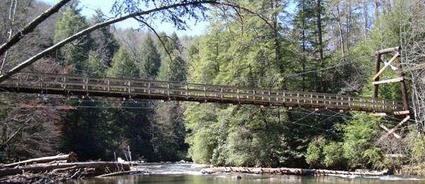 The Swinging Bridge Cabin Rentals Of Georgia