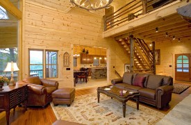 Outlaw Ridge | Cabin Rentals of Georgia | Furnished With Leather Seating