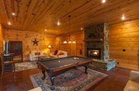 The River's Edge | Cabin Rentals of Georgia | Terrace Living Area