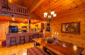 All Inspired Lodge | Cabin Rentals of Georgia | Dining Area