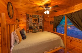 All Inspired Lodge | Cabin Rentals of Georgia | Main Level Queen Bedroom
