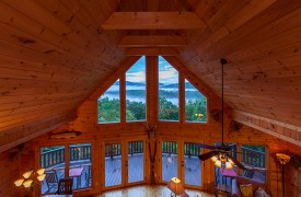 All Inspired Lodge | Cabin Rentals of Georgia | High Ceilings