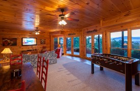 All Inspired Lodge | Cabin Rentals of Georgia | Foosball Table