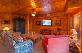 All Inspired Lodge | Cabin Rentals of Georgia | Flat Screen TV
