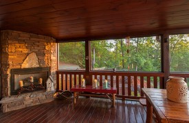 All Inspired Lodge | Cabin Rentals of Georgia | Screened-in Porch
