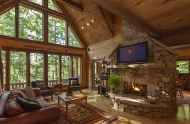 Hemlock Hideaway | Cabin Rentals of Georgia | Living Area