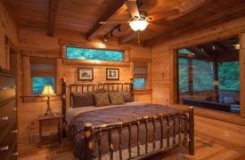 Hemlock Hideaway   Cabin Rentals of Georgia   Main Floor Master Suite