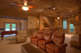 Hemlock Hideaway | Cabin Rentals of Georgia | Terrace Level Game Room