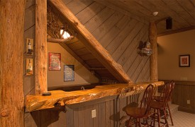 Hemlock Hideaway | Cabin Rentals of Georgia | Terrace Level Wet Bar