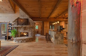 Hemlock Hideaway | Cabin Rentals of Georgia | Kitchen With Bar