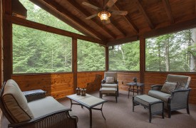 Hemlock Hideaway | Cabin Rentals of Georgia | Screened-In Veranda