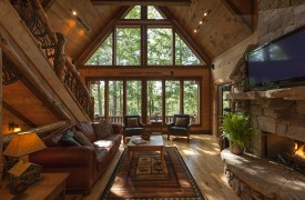 Hemlock Hideaway | Cabin Rentals of Georgia | Main Floor Living Area