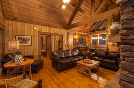 Cohutta Sunset | Cabin Rentals of Georgia | Luxurious Leather Seating
