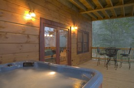A Rolling River Cabin | Cabin Rentals of Georgia | Luxurious Hot Tub