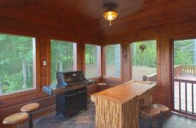 Serendipity On Noontootla Creek | Cabin Rentals of Georgia | Grill Room