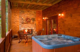 A Rolling River Cabin | Cabin Rentals of Georgia | 6-Person Hot Tub