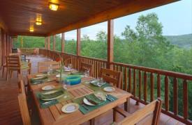 Serendipity On Noontootla Creek | Cabin Rentals of Georgia | Porch
