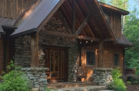 Hemlock Hideaway   Cabin Rentals of Georgia   Grand Portico