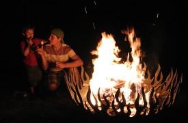 Serendipity On Noontootla Creek | Cabin Rentals of Georgia | Fire Pit