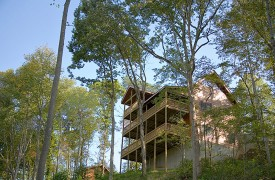 A Rolling River Cabin | Cabin Rentals of Georgia | Oversized Porches