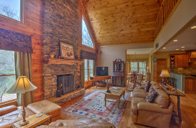 Toccoa Tails | Cabin Rentals of Georgia | High Ceilings