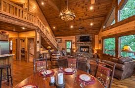 Aska Escape Lodge | Interior | Living Area | Cabin Rentals of Georgia