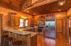 Aska Escape Lodge | Interior | Kitchen | Cabin Rentals of Georgia