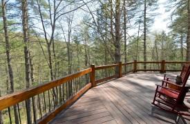 Aska Escape Lodge | Exterior | Cabin Rentals of Georgia | Deck | Beautiful View