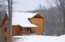 A Rolling River Cabin | Cabin Rentals of Georgia | Wintry Wonderland